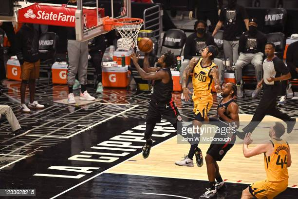 Playoffs: Los Angeles Clippers Reggie Jackson in action vs Utah Jazz at Staples Center. Game 4. Los Angeles, CA 6/14/2021 CREDIT: John W. McDonough