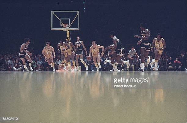 Basketball NBA Playoffs Los Angeles Lakers Jerry West in action vs Milwaukee Bucks Inglewood CA 4/9/19724/11/1972