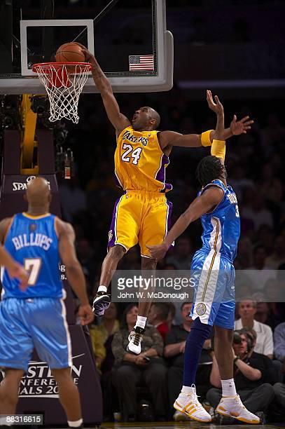 NBA Playoffs Los Angeles Lakers Kobe Bryant in action dunk vs Denver Nuggets Game 5 Los Angeles CA 5/27/2009 CREDIT John W McDonough