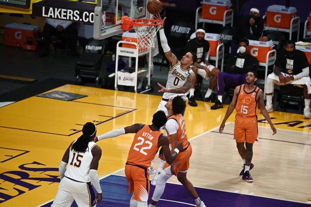 Playoffs: Los Angeles Lakers Kyle Kuzma in action vs Phoenix Suns at Staples Center. Game 4. Los Angeles, CA 5/30/2021 CREDIT: John W. McDonough