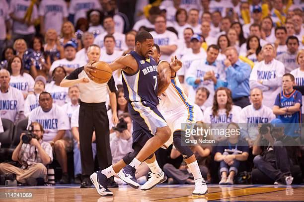 NBA Playoffs Memphis Grizzlies Leon Powe in action vs Oklahoma City Thunder at Oklahoma City Arena Game 5 Oklahoma City OK CREDIT Greg Nelson