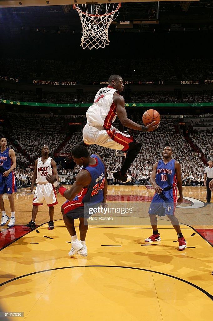 NBA Playoffs, Miami Heat Dwyane Wade in action, layup vs ...