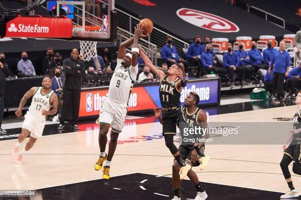 Playoffs: Milwaukee Bucks Bobby Portis in action vs Atlanta Hawks at State Farm Arena. Game 6. Atlanta, GA 7/3/2021 CREDIT: Greg Nelson