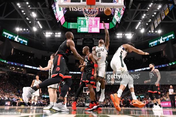 Playoffs: Milwaukee Bucks Eric Bledsoe in action vs Toronto Raptors at Fiserv Forum. Game 2. Milwaukee, WI 5/17/2019 CREDIT: Greg Nelson