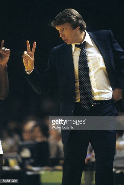 NBA Playoffs Milwaukee Bucks head coach Don Nelson during game vs Phoenix Suns Game 2 Milwaukee WI 4/14/1978 CREDIT Walter Iooss Jr