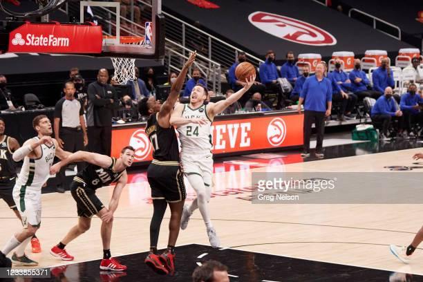Playoffs: Milwaukee Bucks Pat Connaughton in action vs Atlanta Hawks at State Farm Arena. Game 6. Atlanta, GA 7/3/2021 CREDIT: Greg Nelson