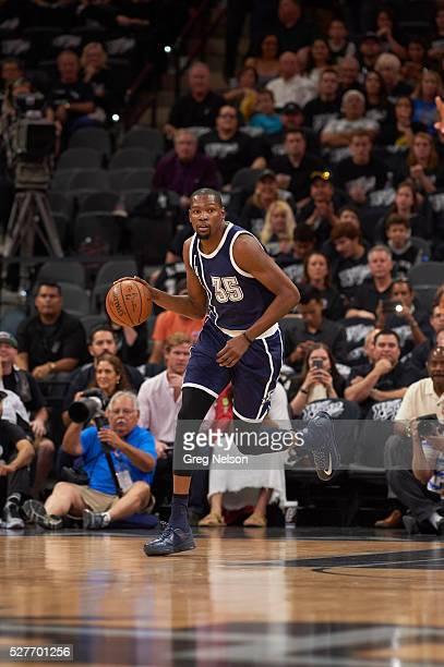 NBA Playoffs Oklahoma City Thunder Kevin Durant in action vs San Antonio Spurs at ATT Center Game 1 San Antonio TX CREDIT Greg Nelson