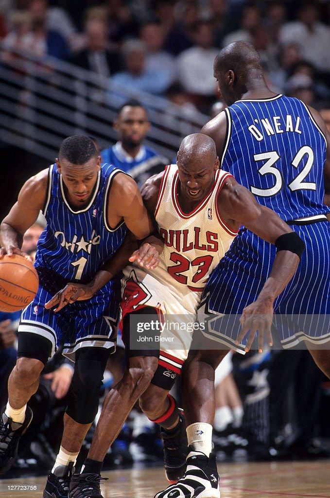 Orlando Magic Anfernee Hardaway in action vs Chicago Bulls ...