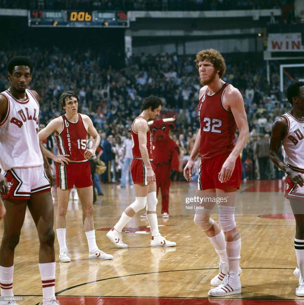 NBA Playoffs. Portland Trail Blazers Bill Walton In Action