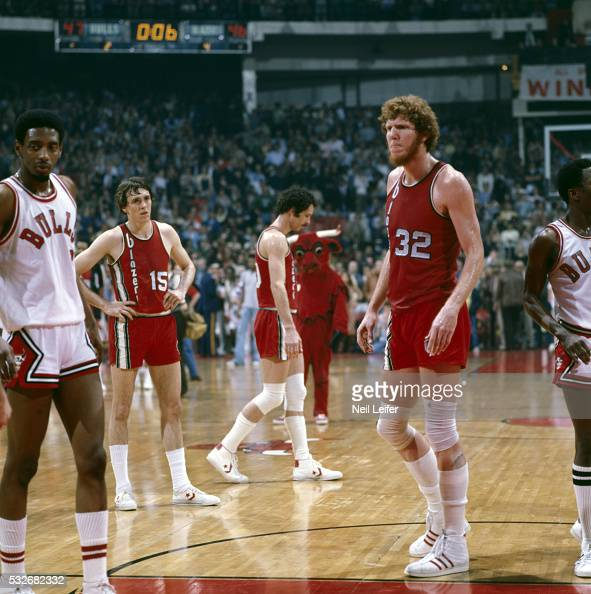 Portland Trail Blazers Nba: NBA Playoffs. Portland Trail Blazers Bill Walton In Action