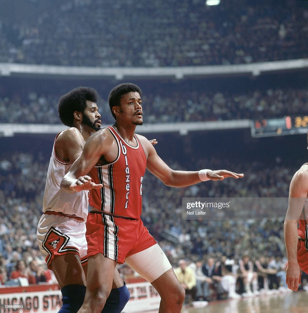 Portland Trail Blazers Maurice Lucas In Action Vs Chicago