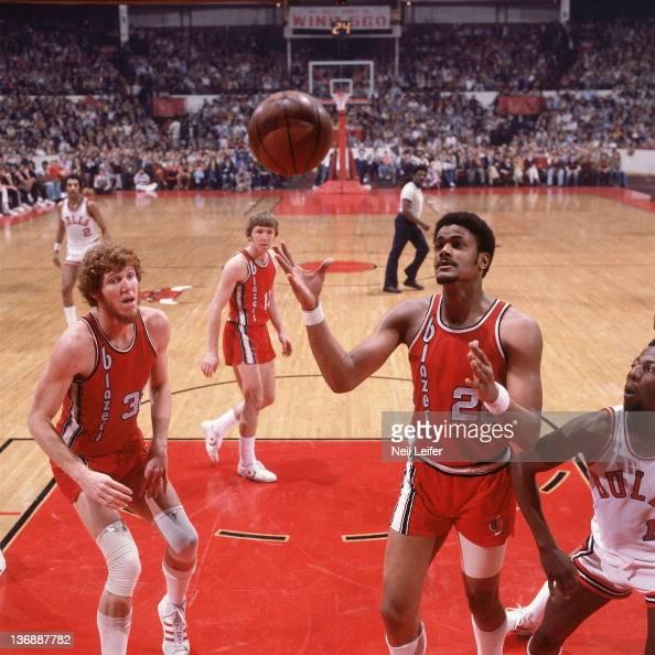 Portland Trail Blazers Stadium: Portland Trail Blazers Maurice Lucas In Action, Rebound Vs