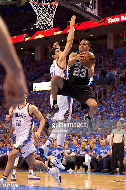 NBA Playoffs San Antonio Spurs Kevin Martin in action vs Oklahoma City Thunder Enes Kanter at Chesapeake Energy Arena Game 6 Oklahoma City OK CREDIT...