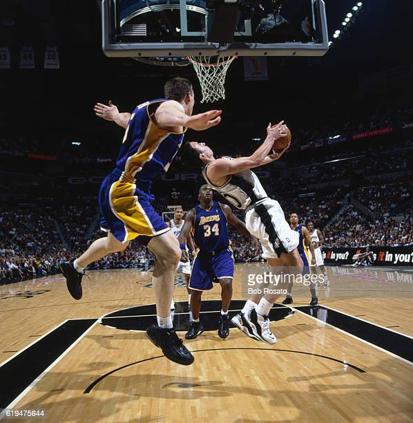 NBA Playoffs San Antonio Spurs Manu Ginobili in action vs Los Angeles Lakers at Alamodome Game 1 San Antonio TX CREDIT Bob Rosato