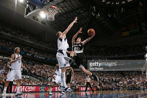 Basketball NBA Playoffs San Antonio Spurs Manu Ginobili in action vs Dallas  Mavericks Keith Van Horn c4081c1b0