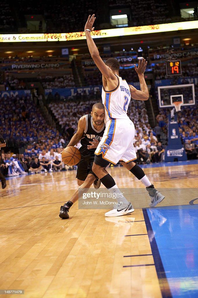 4c200ae7fd2b San Antonio Spurs Tony Parker in action vs Oklahoma City Thunder at ...