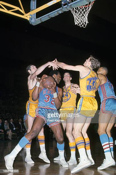 NBA Playoffs St Louis Hawks Bill Bridges in action vs San Francisco Warriors at OaklandAlameda County Coliseum Arena Game 6 San Francisco CA CREDIT...