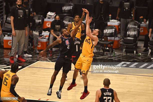 Playoffs: Utah Jazz Bojan Bogdanovic in action, shooting vs Los Angeles Clippers at Staples Center. Game 4. Los Angeles, CA 6/14/2021 CREDIT: John W....