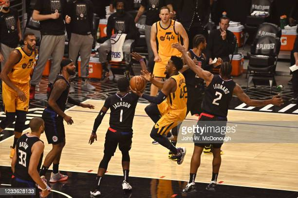 Playoffs: Utah Jazz Donovan Mitchell in action vs Los Angeles Clippers at Staples Center. Game 4. Los Angeles, CA 6/14/2021 CREDIT: John W. McDonough