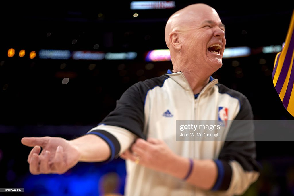 NBA referee Joe Crawford before Los Angeles Lakers vs Miami Heat game at Staples Center. John W. McDonough F124 )