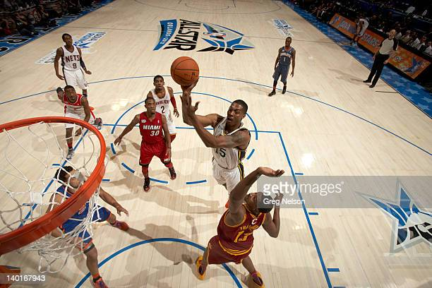 NBA Rising Stars Challenge Indiana Pacers Derrick Favors in action during AllStar Weekend at Amway Center Orlando FL CREDIT Greg Nelson