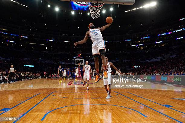 NBA Rookie Challenge Oklahoma City Thunder James Harden in action during AllStar Friday Night of AllStar Weekend at Staples CenterLos Angeles CA...
