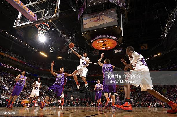 NBA Rookie Challenge Youth Jam Sophomores Team Thaddeus Young in action layup vs Rookies Team during All Star Weekend Phoenix AZ 2/13/2009 CREDIT...