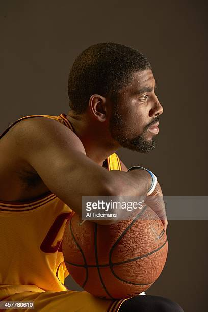 NBA Season Preview Closeup portrait of Cleveland Cavaliers Kyrie Irving during photo shoot at Cleveland Clinic Courts Independence OH CREDIT Al...