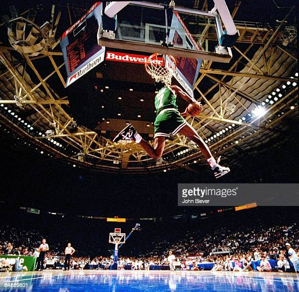 NBA Slam Dunk Contest Boston Celtics Dee Brown in action during All Star Weekend Charlotte NC 2/9/1991 CREDIT John Biever