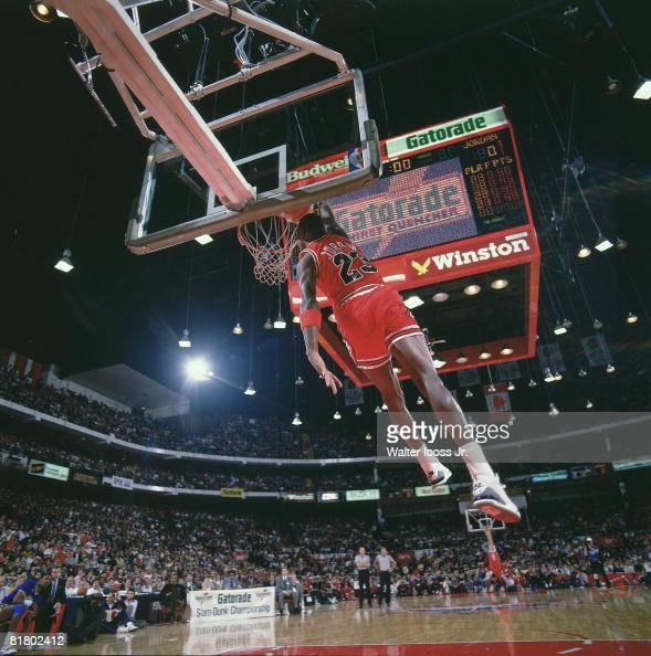 NBA Slam Dunk Contest, Chicago Bulls Michael Jordan In