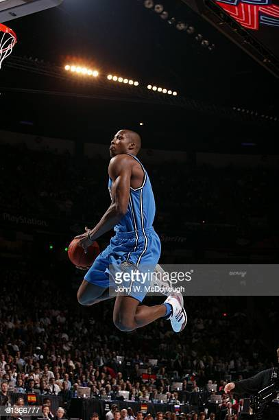 Basketball NBA Slam Dunk Contest Orlando Magic Dwight Howard in action making dunk during All Star Weekend Las Vegas NV 2/17/2007