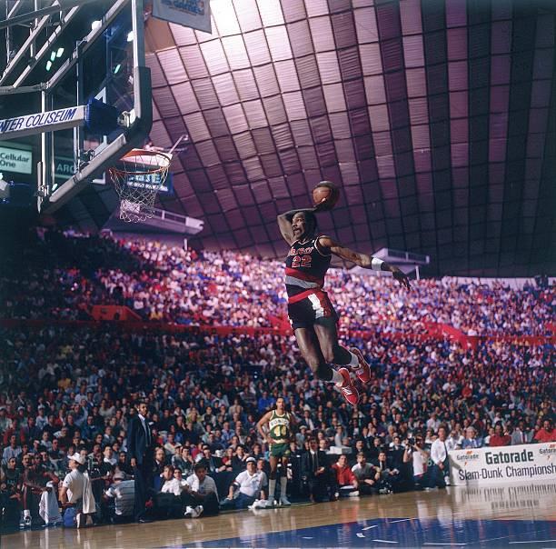Portland Trail Blazers Stadium: Portland Trail Blazers Clyde Drexler, 1987 NBA Slam Dunk