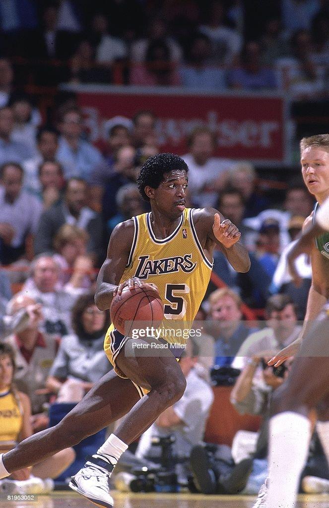 Los Angeles Lakers A C Green In Action Vs Dallas Mavericks