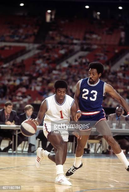 NBA/ABA All Star Game Milwaukee Bucks Oscar Robertson in action vs ABA All Stars at Houston Astrodome Houston TX CREDIT Neil Leifer