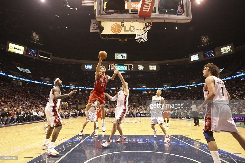 New Jersey Nets Brook Lopez in action vs Cleveland ...