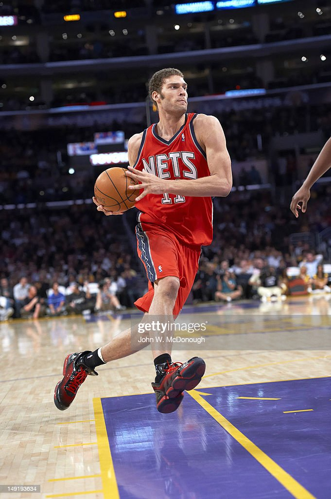 official photos 645a5 5c179 New Jersey Nets Brook Lopez in action vs Los Angeles Lakers ...