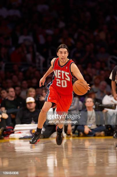 e75663a37 New Jersey Nets Sasha Vujacic in action vs Los Angeles Lakers at Staples  CenterLos Angeles CA