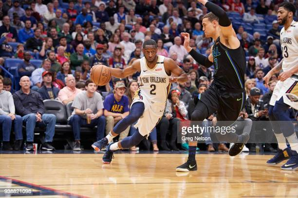 New Orleans Pelicans Ian Clark in action vs Dallas Mavericks at Smoothie King Center New Orleans LA CREDIT Greg Nelson