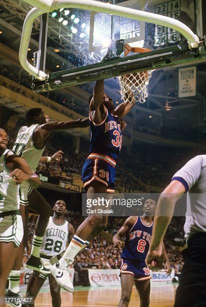New York Knicks Bernard King in action dunk vs Boston Celtics at Boston Garden Game 5Boston MA 4/29/1984CREDIT Carl Skalak