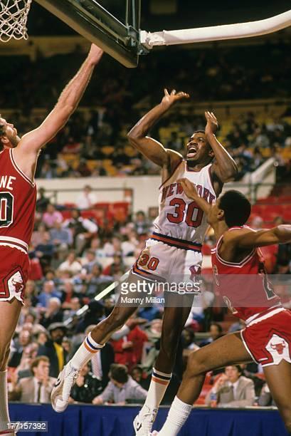 New York Knicks Bernard King in action shot vs Chicago Bulls at Madison Square Garden New York NY CREDIT Manny Millan