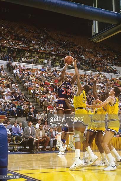 New York Knicks Bernard King in action shot vs Indiana Pacers at Market Square ArenaIndianapolis IN 2/27/1985CREDIT Tony Tomsic