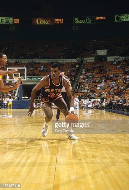 New York Knicks Bernard King in action vs Indiana Pacers at Market Square ArenaIndianapolis IN 2/27/1985CREDIT Tony Tomsic