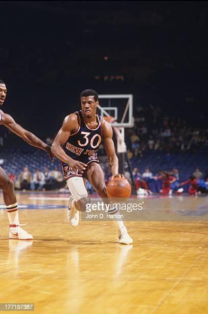 New York Knicks Bernard King in action vs Washington Bullets at Capital Centre Landover MD CREDIT John D Hanlon