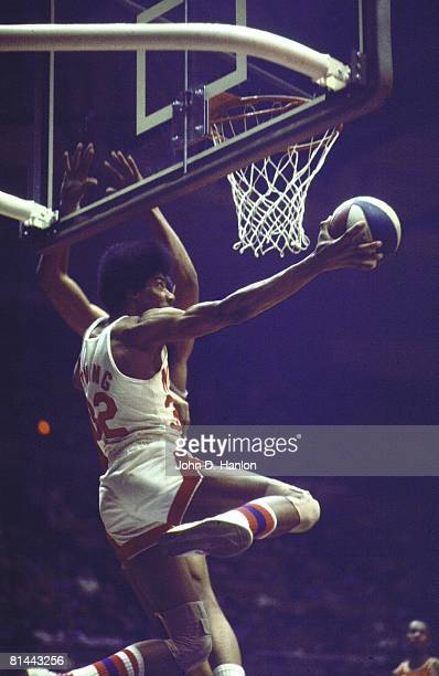 New York Nets Dr J Julius Erving in action layup vs St Louis Spirits Uniondale NY 2/28/1975