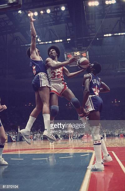 New York Nets Julius Dr J Erving in action vs Utah Stars Uniondale NY