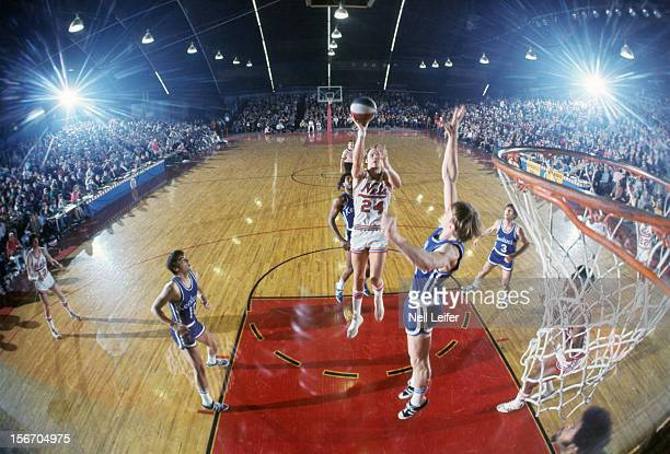 new york nets rick barry in action shot vs kentucky colonels at island garden west hempstead - Island Garden Basketball
