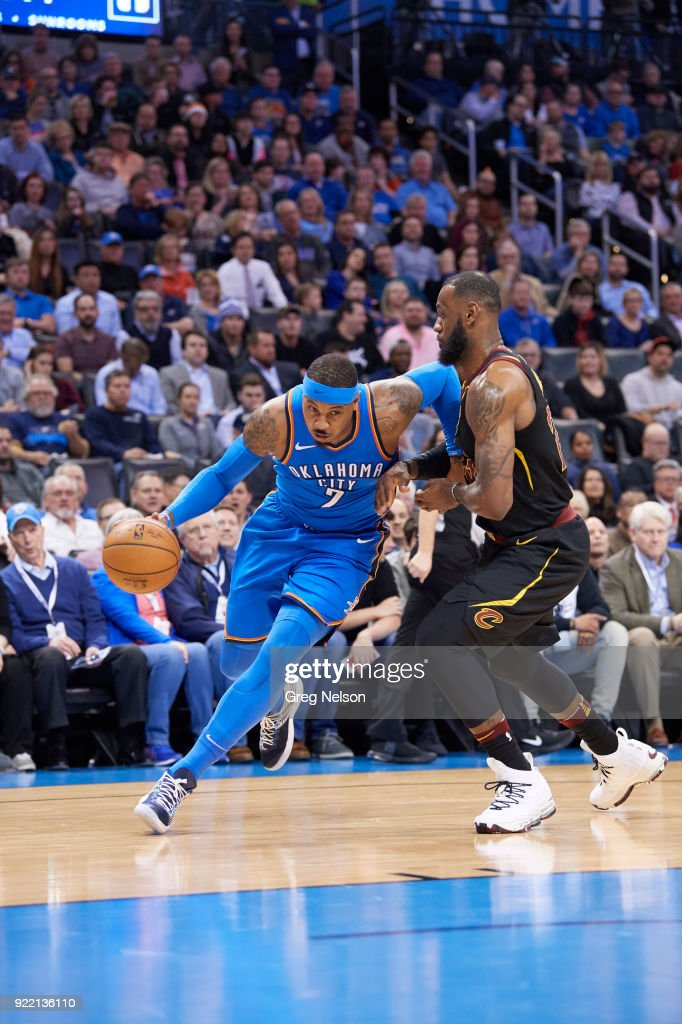 Oklahoma City Thunder Carmelo Anthony (0) in action vs Cleveland Cavaliers at Chesapeake Energy Arena. Greg Nelson TK1 )