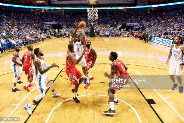 Oklahoma City Thunder Isaiah Canaan in action vs Houston Rockets during preseason game at BOK Center Tulsa OK CREDIT Greg Nelson