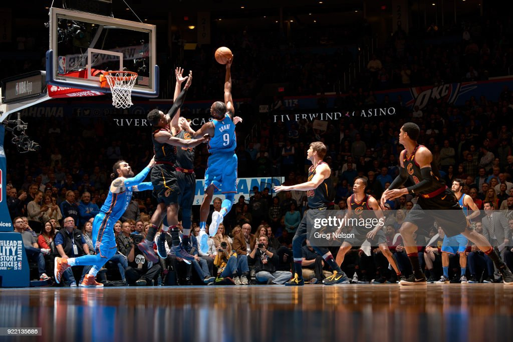 Oklahoma City Thunder Jerami Grant (9) in action vs Cleveland Cavaliers at Chesapeake Energy Arena. Greg Nelson TK1 )