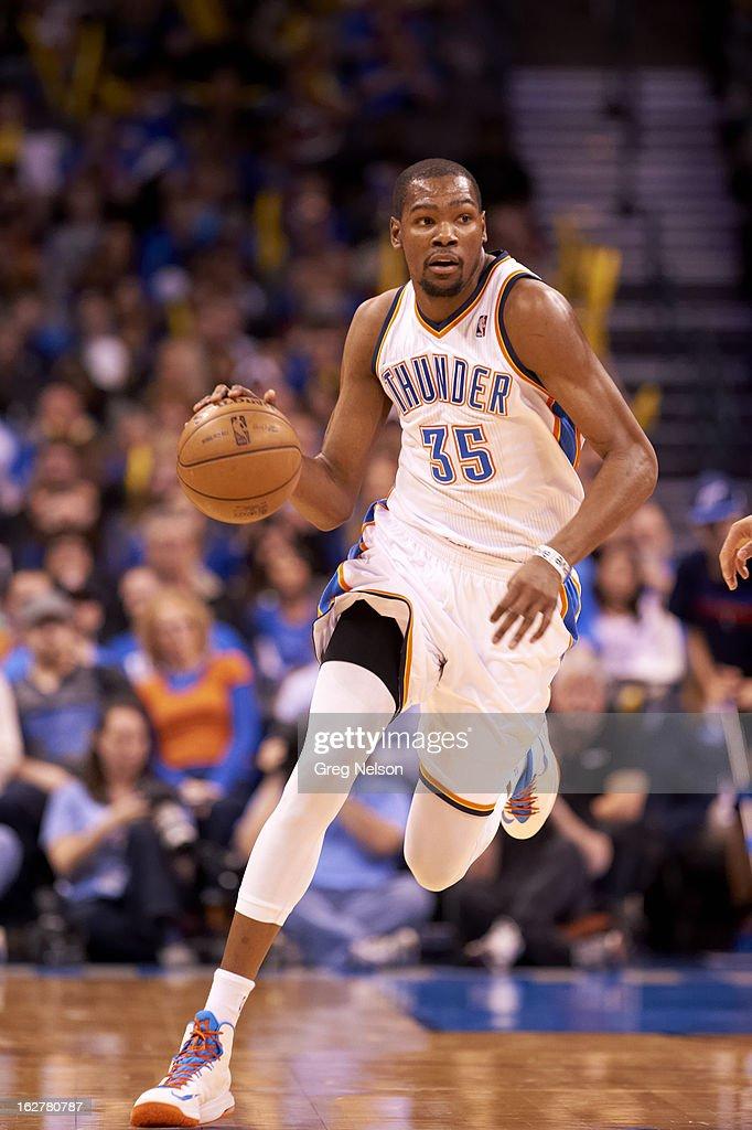 Oklahoma City Thunder Kevin Durant (35) in action vs Chicago Bulls at Chesapeake Energy Arena. Greg Nelson F151 )